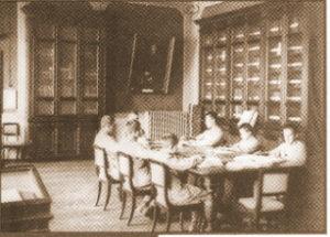 Ragazzi ciechi che studiano (immagine storica)